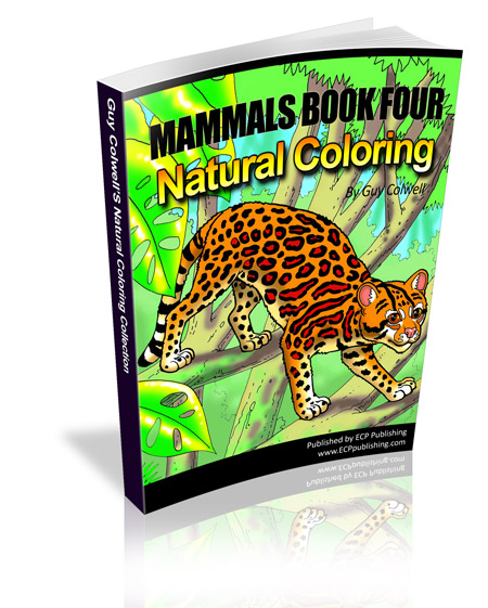 mammals colouring book four