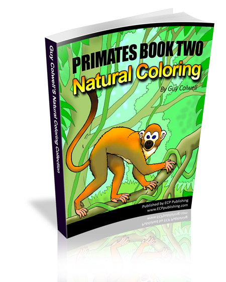 primates colouring book two