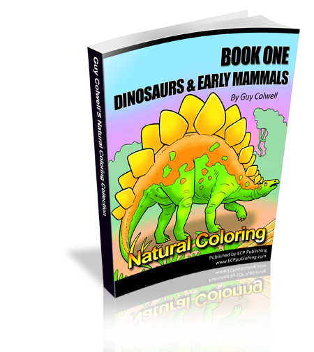dinosaur colouring book one