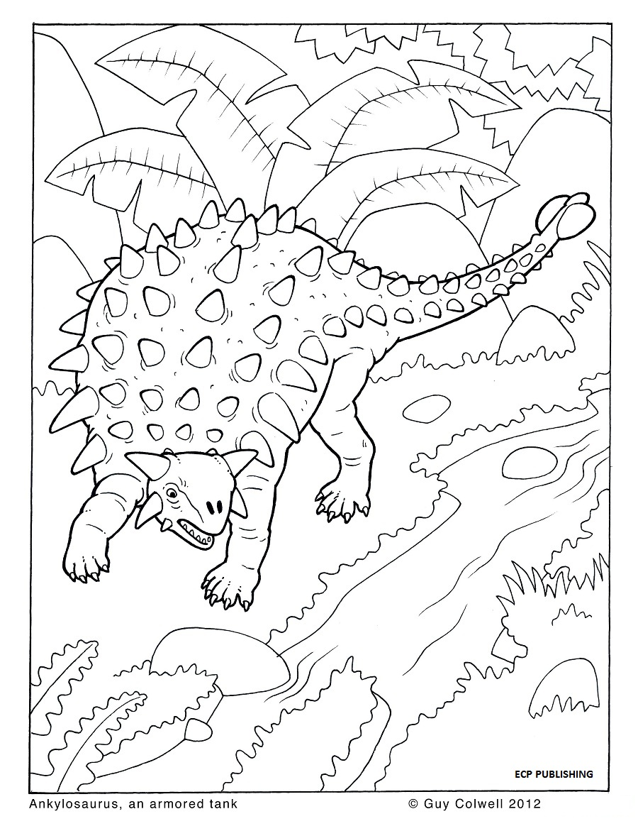 Free Colour Of Dinosaurs Coloring Pages