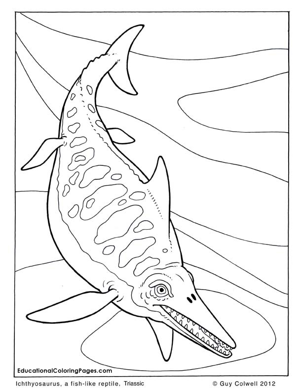 dinosaur coloring book sample