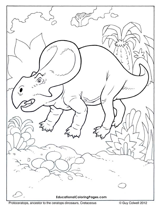 Protoceratops coloring, dinosaur coloring pages