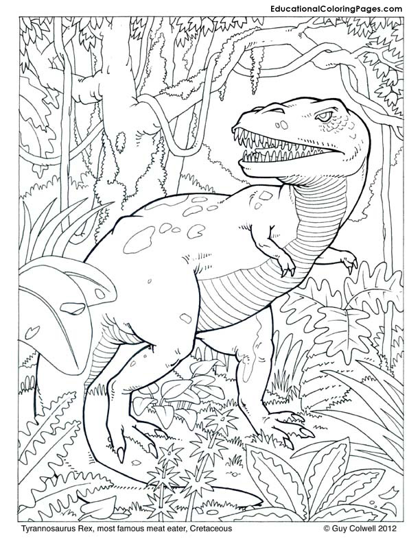 click to enlarge dinosaur coloring book sample
