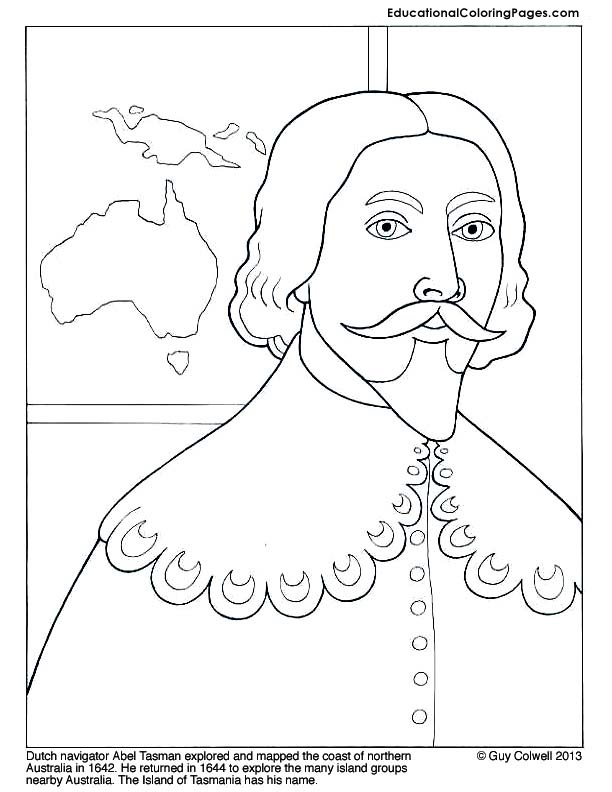 famous explorers coloring book