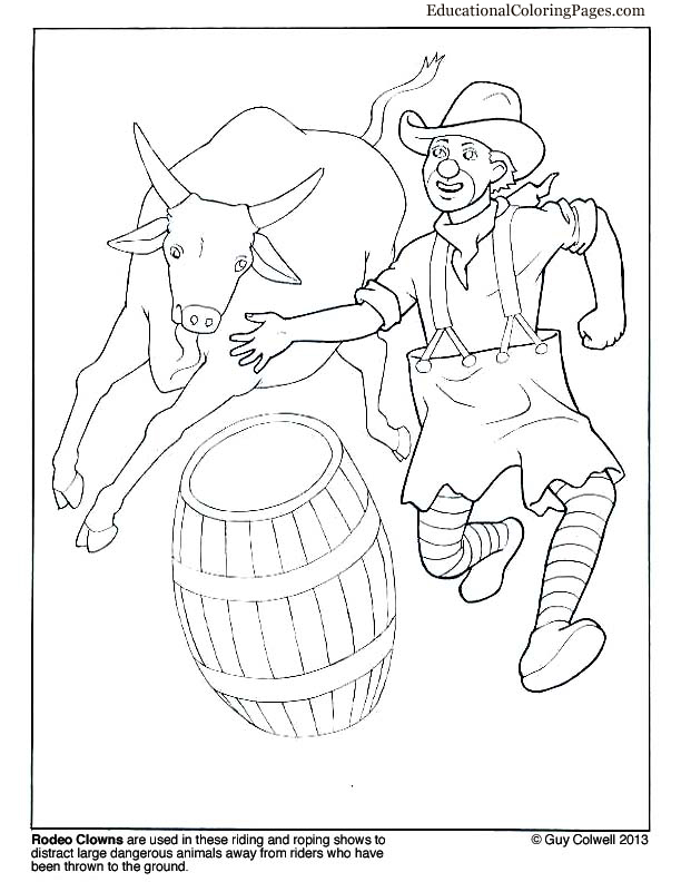 Rodeo Coloring Pages RODEO COLORING PAGES: Bull Rider Coloring Sheet ...